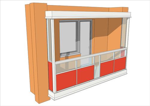 Hliníkové zábradlia - balkóny