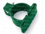 objímka z PVC na uchytenie panelov ku guľatým stĺpikom vrátane skrutky na stĺpiku - zelená