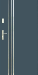 Vchodové dvere WIKED NORMAL 32 A - obojstranný INOX