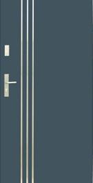 Vchodové dvere WIKED NORMAL 32 A - vonkajšíinox
