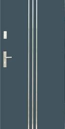 Vchodové dvere WIKED NORMAL 32 - obojstranný INOX