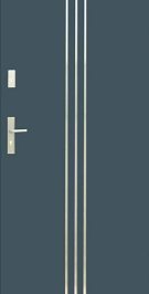 Vchodové dvere WIKED NORMAL 32 - vonkajší INOX
