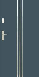 Vchodové dvere WIKED PREMIUM 32 - vonkajší INOX
