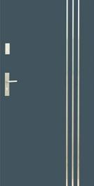 Vchodové dvere WIKED TERMO PRESTIGE 32 B - vonkajšíinox